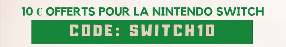 code promo switch